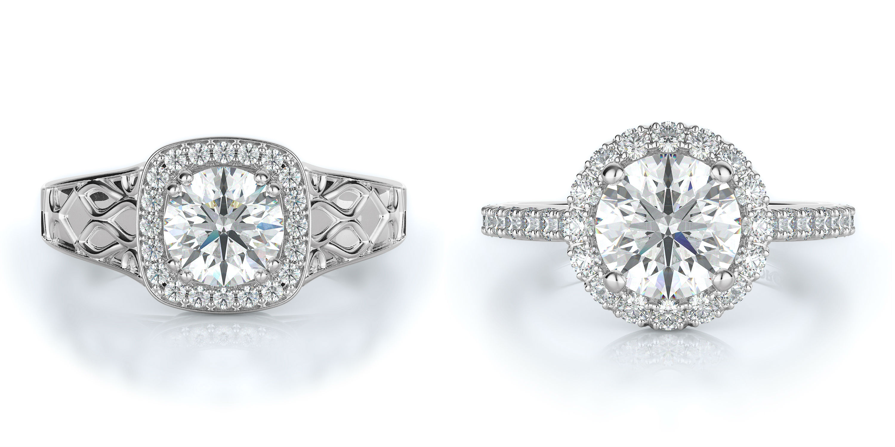 Halo Engagement Rings at Torosi