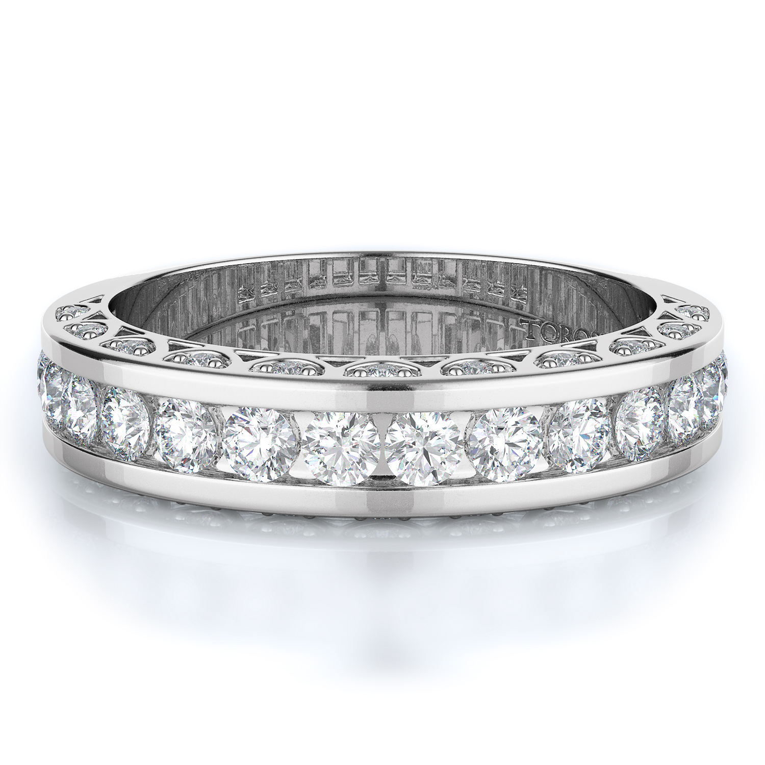 Pave, Channel Style Diamond Wedding band  | 0.82 ctw product image