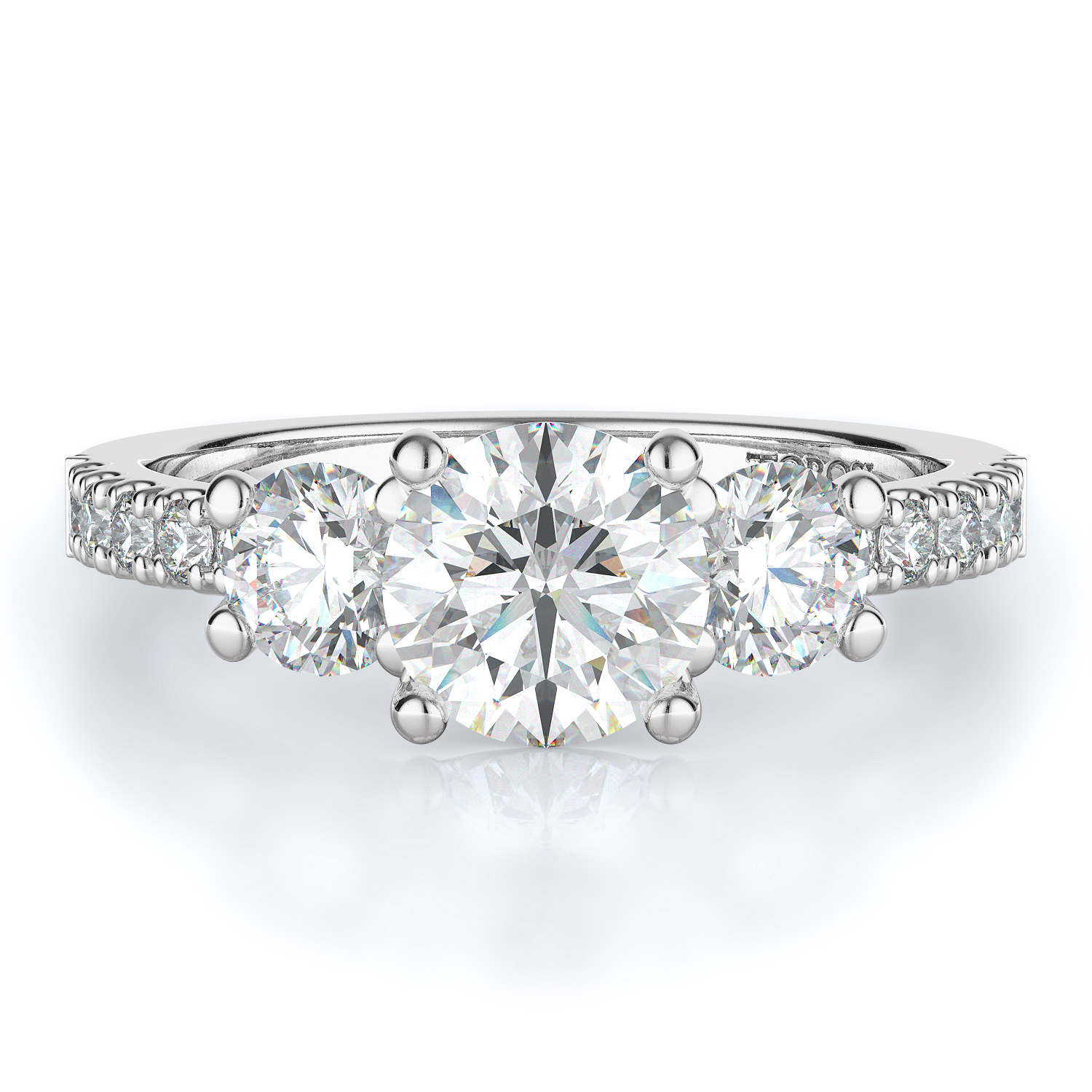 Three stone Style Diamond Engagement ring 